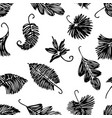 pattern of the doodles of leaves trees vector image