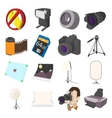Photography set icons cartoon style vector image vector image