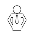 pictogram businessman icon vector image vector image