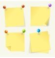 pin yellow paper vector image vector image