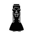 pixelated princess avatar game vector image
