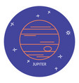 planet jupiter icon in thin line style vector image vector image