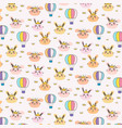 princess bunny pattern background for kids vector image