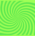 retro radial background stylish green colored vector image vector image