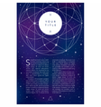 Sacred geometry symbolFlayer bfnner template vector image vector image