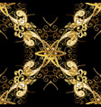 seamless pattern medieval floral royal pattern vector image