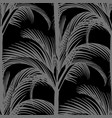 seamless print gray vertical palms on a black vector image vector image