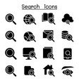 searching internet icon set vector image vector image