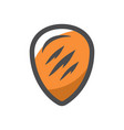 shield protection armor icon cartoon vector image vector image