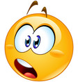 shocked emoticon vector image