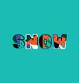 snow concept word art vector image vector image