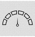 Speedometer sign Line icon vector image vector image