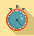 sport stopwatch icon flat style vector image