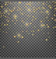 stars shiny gold glowing christmas stars vector image