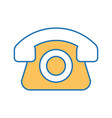 telephone service isolated icon vector image