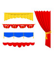 theather scene blind curtain stage fabric texture vector image vector image