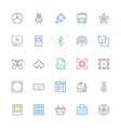 User Interface Colored Line Icons 34 vector image vector image