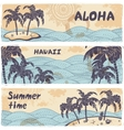 vintage banners islands in ocean vector image vector image
