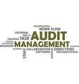 word cloud - audit management vector image vector image