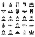 work service icons set simple style vector image vector image