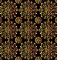 Black mandalas pattern vector image
