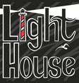 light house black and white in background vector image