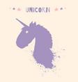 magic unicorn head logo template vector image