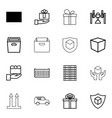 16 parcel icons vector image vector image