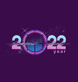 2022 year numbers space banner vector image