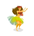 a Hawaiian hula dancer woman vector image vector image