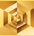 abstract luxury gold 3d geometric background vector image