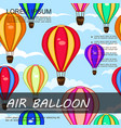 air trip colorful background vector image vector image