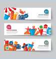 banner set summer and travel vector image