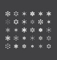 big set of snowflakes winter christmas xmas vector image