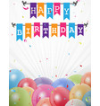 birthday celebration greeting card vector image vector image