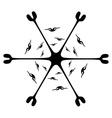 Black circle ornament vector image vector image