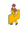 builder engineer isometric composition vector image vector image