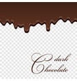 chocolate seamless pattern drip dark chocolate vector image vector image