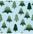 christmas winter forest landscape seamless vector image vector image
