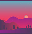 colorful background horizon vector image
