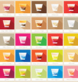 colorful mega collection of cocktail shots in vector image vector image