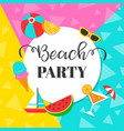 colorful summer beach party background vector image vector image