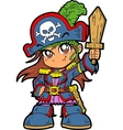 Cute Girl Pirate vector image vector image