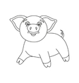 cute pig coloring book vector image
