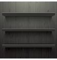 Dark wood background shelves