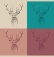 deer head hipster style with glasses and mustache vector image vector image