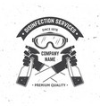 disinfection and cleaning services badge logo vector image