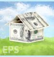 dollars money house vector image