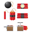 Dynamite icons vector image