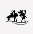 Feeding cow stylized silhouette